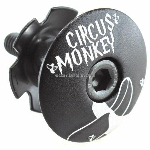 BLACK RED PURPLE Circus Monkey Headset Stem Top Cap Bolt 1-1//8 Road MTB