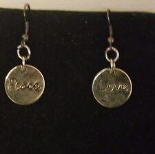 1 Pair Peace & Love Earring Set
