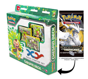 Chespin-Kalos-XY-Pokemon-60-Card-Starter-Deck-w-Legendary-Treasures-Booster-Pack