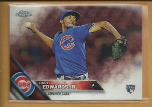 Carl-Edwards-Jr-RC-2016-Topps-Chrome-Rookie-Card-85-Chicago-Cubs-Baseball