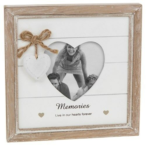 Memories Live In Our Hearts Forever Shabby Chic Wooden Photo Frame