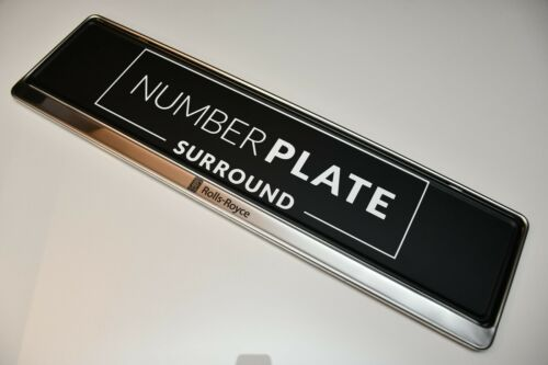 1 x Prestige Chrome Acier Inoxydable Number Plate Surround Support pour ROLLS-ROYCE