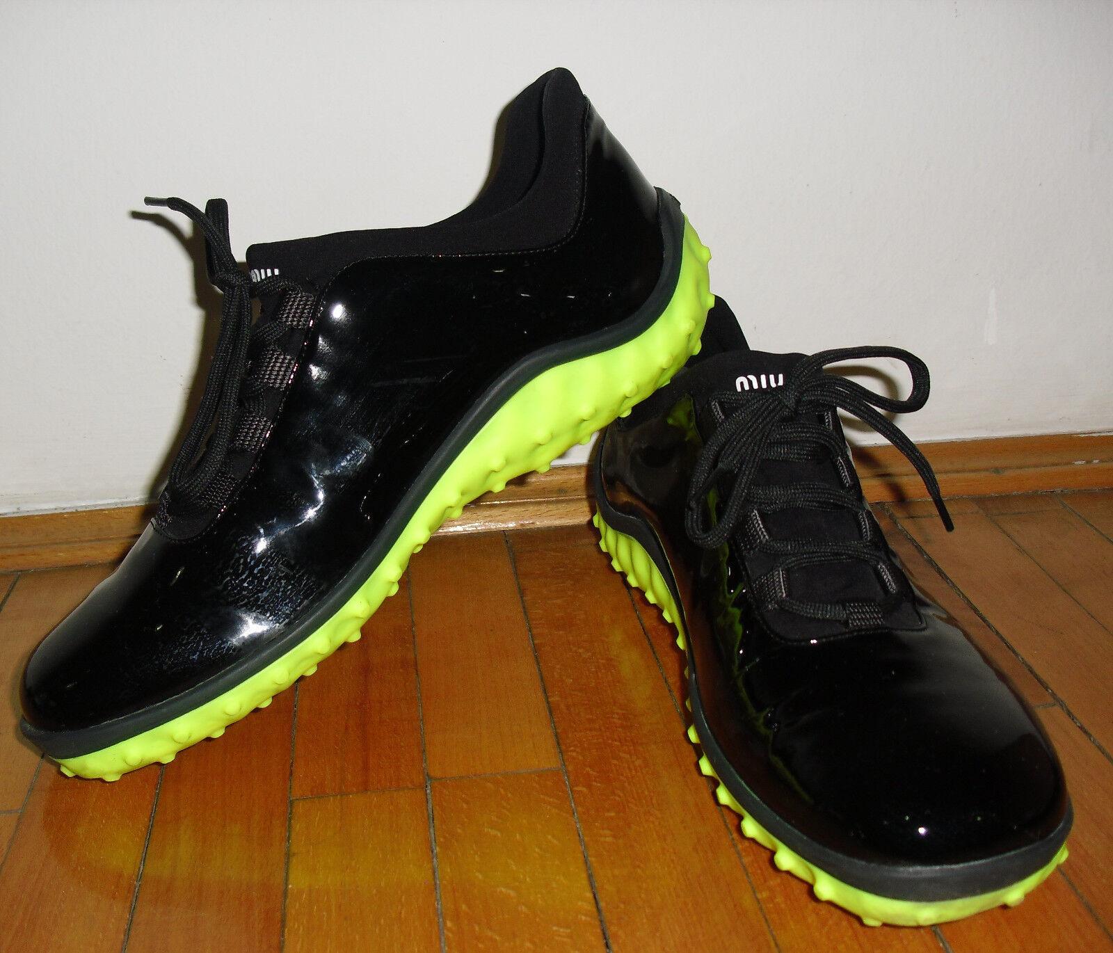 autorizzazione ufficiale Miu Miu Donna Donna Donna  scarpe da ginnastica Shiny nero  memorizzare