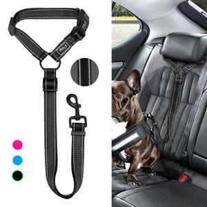 Hunde-Auto-Sicherheitsgurt-Hundegurt-Verstellbar-Anschnallgurt-fuer-Hundegeschirr