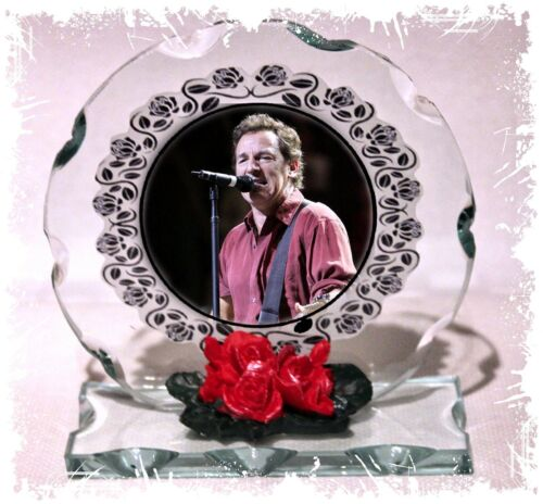 Bruce Springsteen Cut Glass Round Plaque Ltd Edition #1 Dancing In The Dark