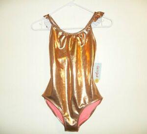 f2264935b7f8e NWT CAT & JACK Girls One Piece Swimsuit Shiny Metallic Gold XL (14 ...