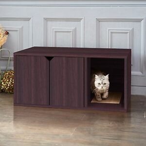 Image Is Loading Eco Cat Litter Box Enclosed Kitty Litter Furniture