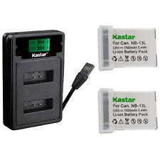 Vea compatibilidad en la descripci/ón Garant/ía de 2 a/ños Dot.Foto 2 x Canon NB-13L Premium Bater/ía de Reemplazo 3.6V//1250mAh
