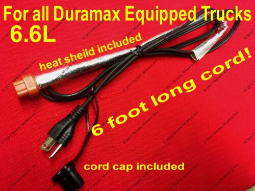 2001-2019 6.6 L Duramax Diesel Block Heater Cord Chevy GMC Silverado 2500 3500