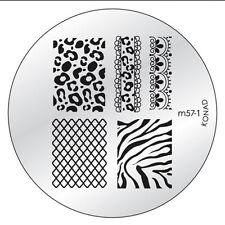 Original Konad Stamping Schablone M57-1 für Nailart Nageldesign USN US Nails Ar