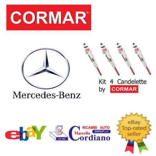 KIT 5 CANDELETTE MERCEDES CLK 270 CDI DA ANNO 2002 W209 CORMAR