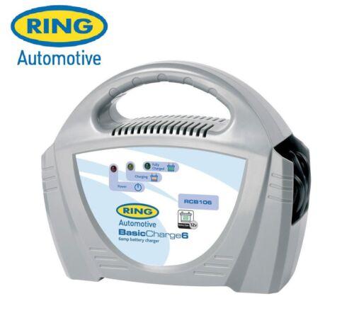 Ring Automotive Basic Charge6 12V 6AH 6 Amp Battery Charger Car Bike RCB106