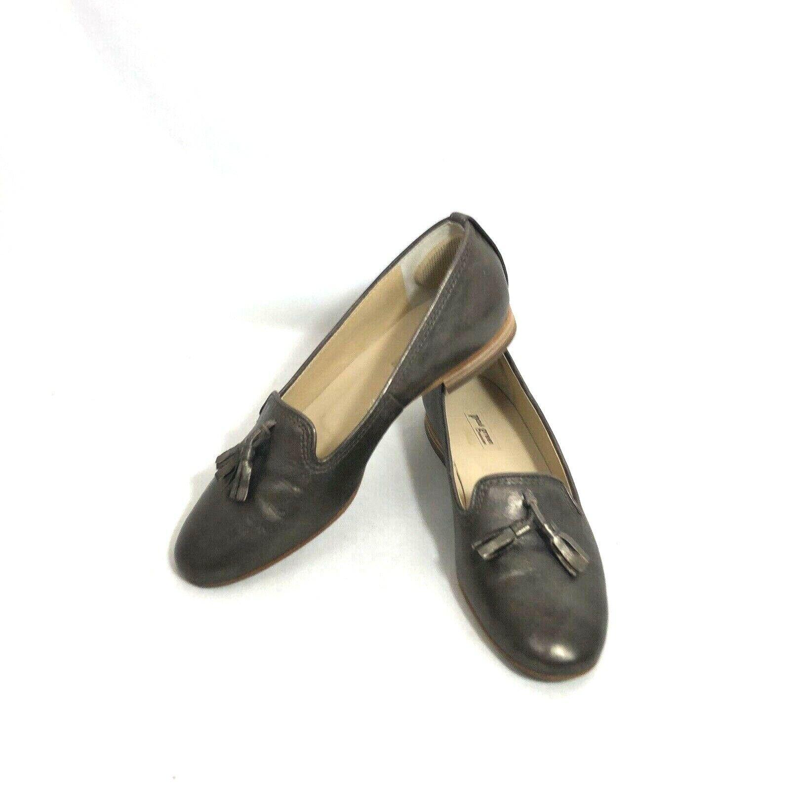 Paul vert Femme 6.5 us chaussures Flats Tassel Cuir Bronze UK 4