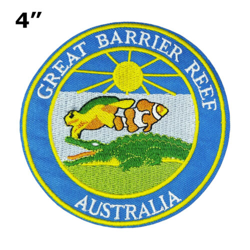 Australia Embroidered Patch Iron//Sew-On Applique Souvenir Great Barrier Reef