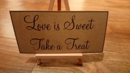 Vintage Sweet table Wedding sign