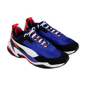 Puma-Thunder-4-Life-36947101-Mens-Blue-Suede-amp-Textile-Low-Top-Sneakers-Shoes