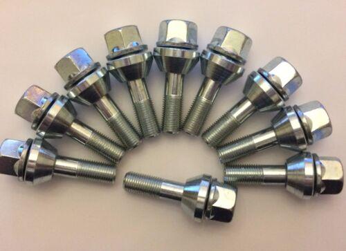 M12X1.5 x 10 29mm THREAD WOBBLY PCD CORRECTION ALLOY WHEEL BOLTS AUDI 57.1