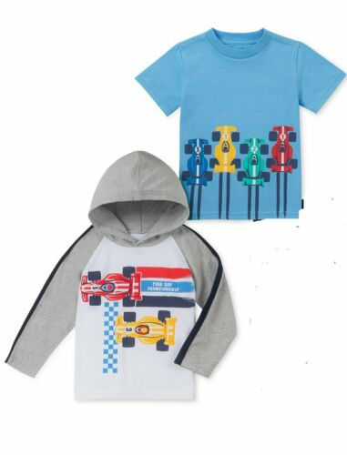 Kids Headquarters Baby Boys Race Car T-Shirt /& Hoodie