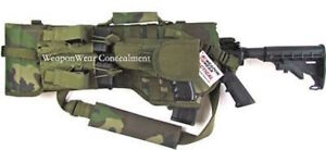 Tactical-Rifle-Scabbard-Gun-Case-Pistol-amp-Mag-Pouch-Included-Woodland-Camo-Gift