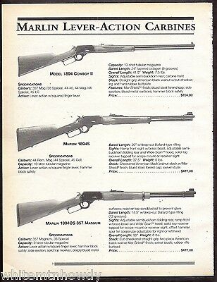 1999 MARLIN 1894 Cowboy II, 1894S, 1894CS  357 Magnum Lever