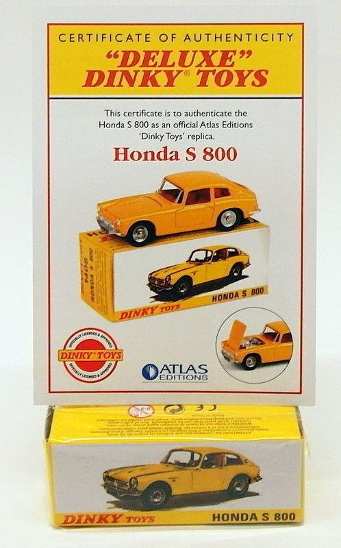 Atlas Editions dinky toys diecast Voiture Modèle 1408-Honda S 800 En parfait état, dans sa boîte d'origine