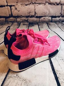 5ba82f80f Image is loading Adidas-NMD-R1-Solar-pink-Primeknit-Women-s-