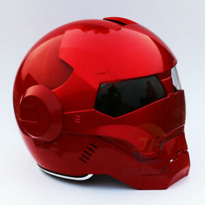 33f75050 New Helmet Iron Man Motorcycle Open Face Half Casque Motocross DOT ...