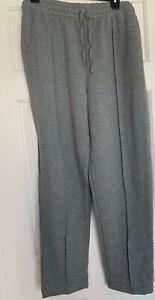 Donna Karan Plus Solid Grey Heather Ribbed Knit Pajama PANT Womens 2X NWT
