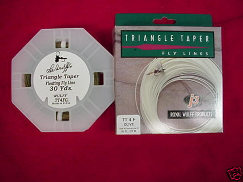 Royal Wulff Fly Line Triangle Taper Olive #4 GREAT NEW