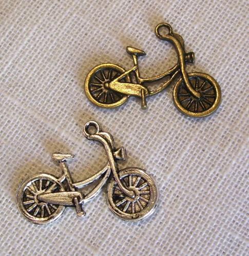 LOT de 3 BICYCLETTE VÉLO Bronze  25 x 20 mm  CHARM 018 BRELOQUE PENDENTIF