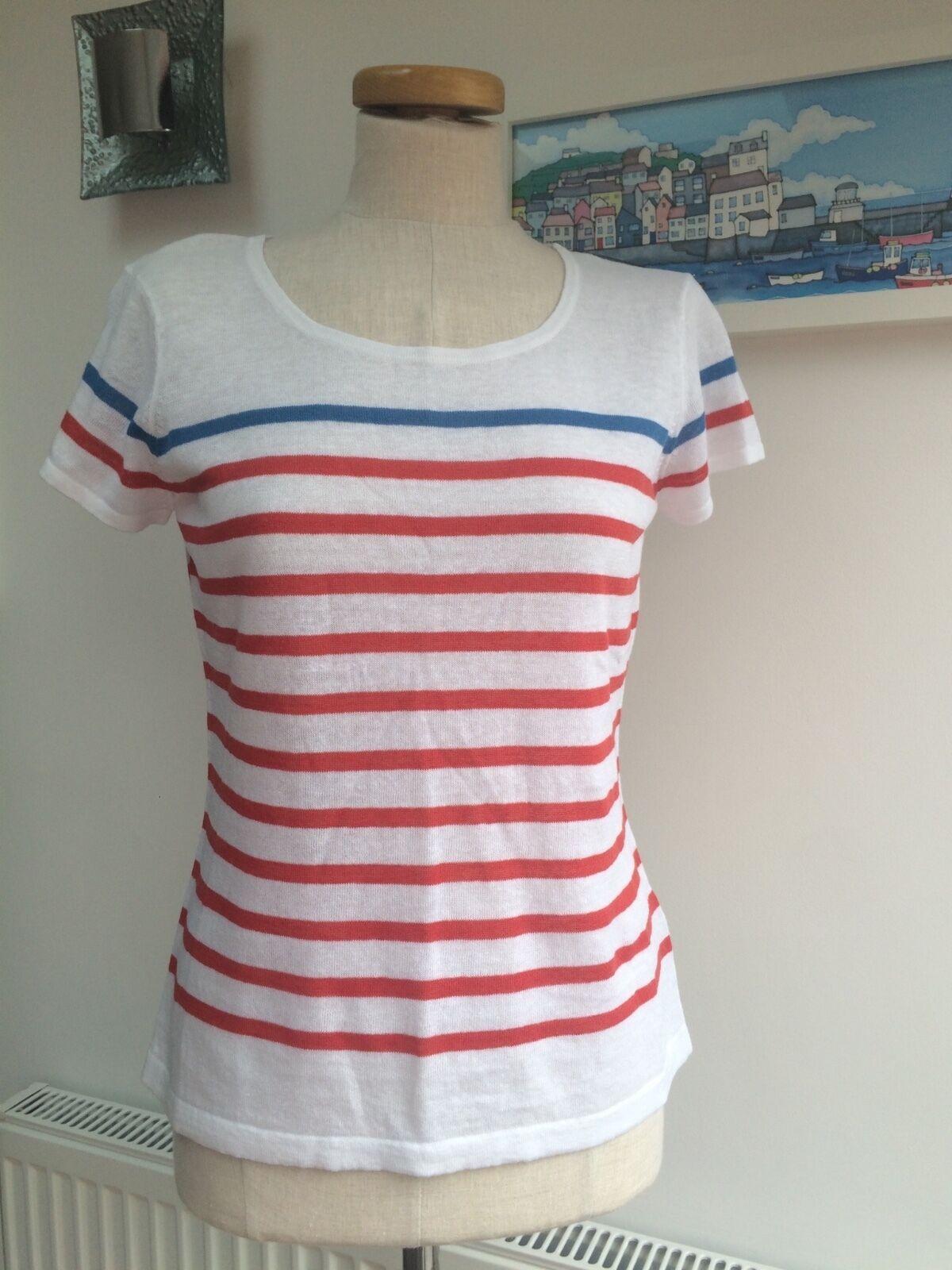 Seasalt Gunwalloe Tee Knit - Menehay Sunstone - UK10 - Sales Sample SAVE