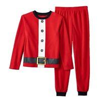 Santa Suit Family Pajamas Pjs Set Boy Size 2t 3t 4t Holiday Famjams Fleece