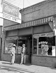WV Vintage Photograph 8.5 x 11 Reprint Osage 1938 Gas Station and Dance Hall