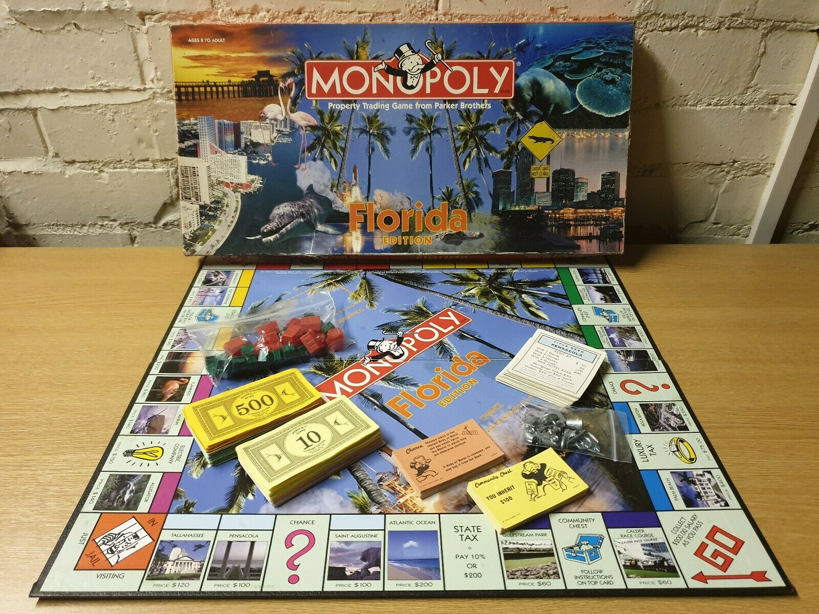 ⭐️ MONOPOLY FLORIDA Edition Property BOARD GAME Parker 100% COMPLETE ⭐️
