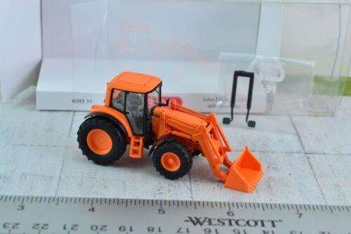 Wiking 1:87 John Deere 6920 S Tractor w// Front Loader Orange HO Scale