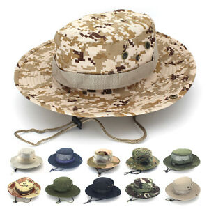 970c67ec1ab49d Image is loading Adults-Bucket-Hat-Summer-Fishing-Hunting-Military-Outdoor-