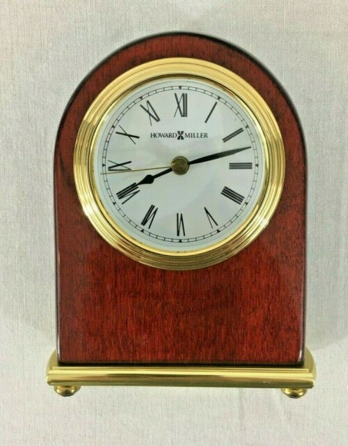 Howard Miller Rosewood Arch Table Alarm Clock Model 613-487 Works Perfectly