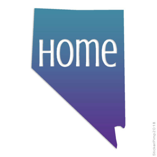 Size #3830 Nevada Home State Decal Sticker Choose Pattern