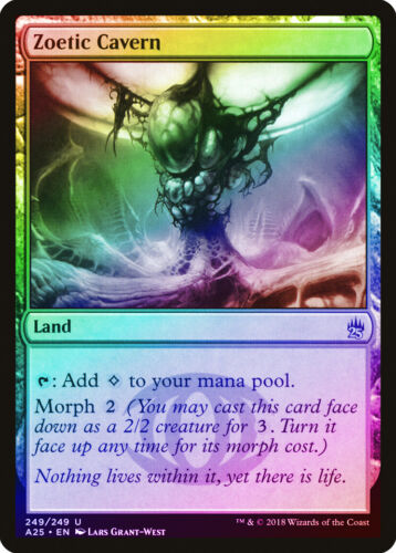 Zoetic Cavern FOIL Masters 25 NM-M Land Uncommon MAGIC GATHERING CARD ABUGames