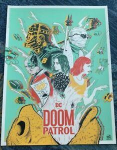 Doaly Wondercon 2019 Not Mondo Doom Patrol Print Poster Exclusive DC Universe
