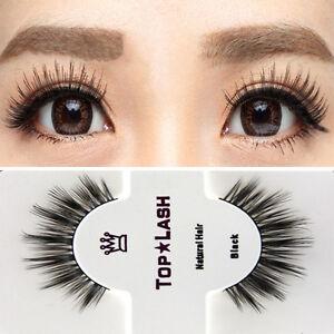 Black-100-Real-Mink-Natural-Long-Thick-Eye-Lashes-False-Eyelashes-Top-Lashes