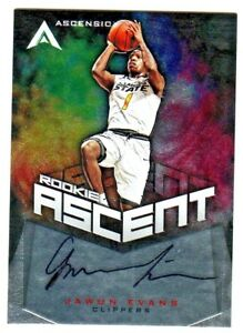 2017-18-Ascension-ROOKIE-ASCENT-AUTOGRAPH-JAWUN-EVANS-RC-275-299-ON-CARD-AUTO