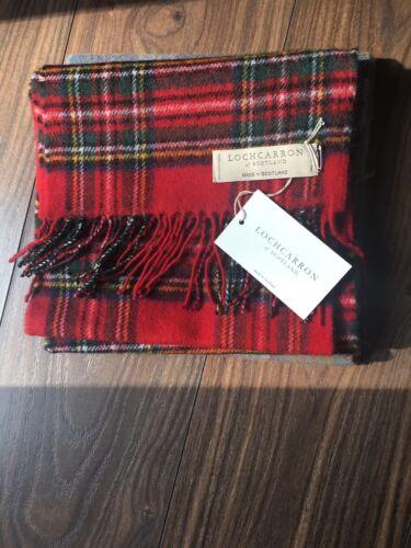 Locharron di Scozia-check Royal Stewart Lana D/'Agnello Sciarpa Nuovo Caldo Tartan