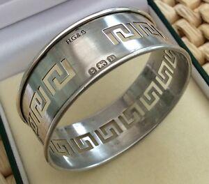 Lovely-Antique-Hallmarked-Birmingham-1928-Solid-Silver-Napkin-Serviette-Ring