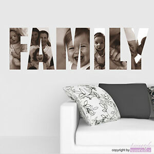 wandtattoo family bilder mal anders mit eigenen fotos wandaufkleber ebay. Black Bedroom Furniture Sets. Home Design Ideas