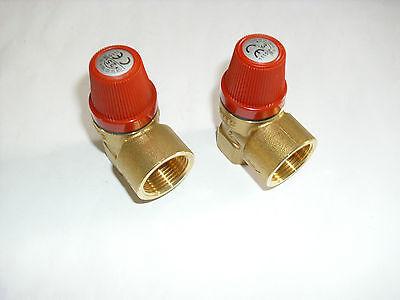 """Membran Sicherheitsventil Überdruckventil Heizung von 2,5 - 3,0 bar 1/2"""" DN 15"""