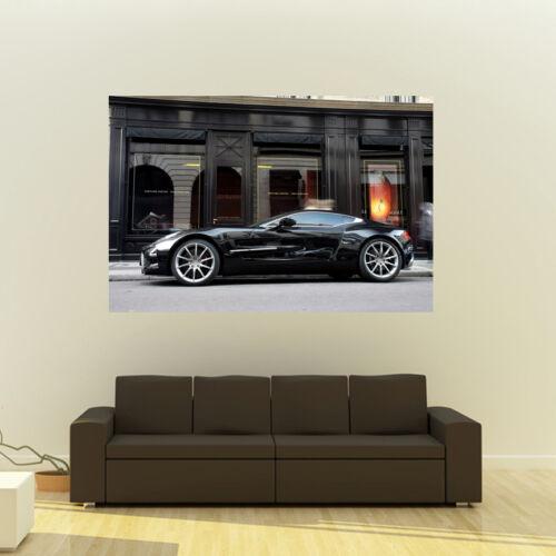 Aston Martin Black One-77 Giant HD Poster Huge 54x36 Inch Print 137x91 cm