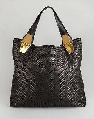 TOM FORD Natasha Black Woven Calfskin Tote Bag Handbag Purse NWT...Sold Out !!!