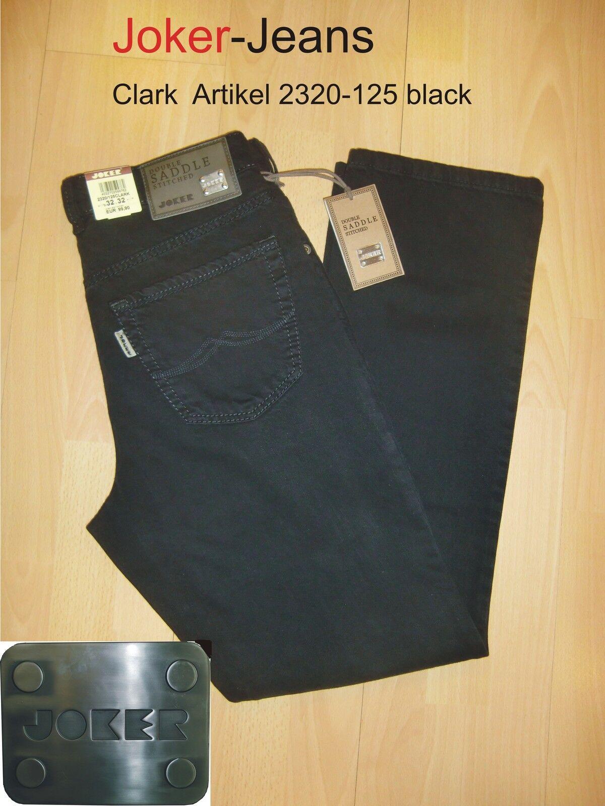 Joker Jeans  Clark  schwarz   Gr. W34   L32