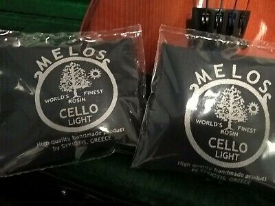Violin LIGHT Rosin by MELOS in a pouch cloth lined /'The World/'s Finest Rosin!/'
